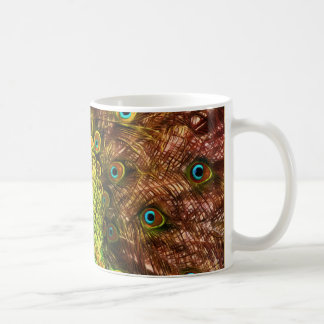 Paon coloré mug