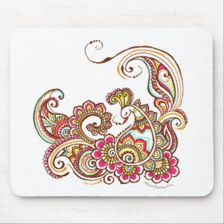 paon coloré tapis de souris