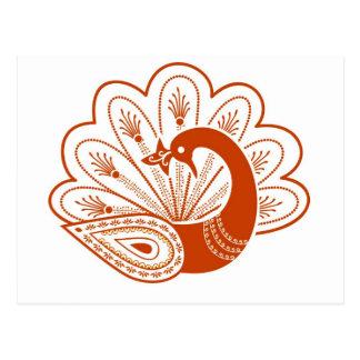 Paon de henné carte postale