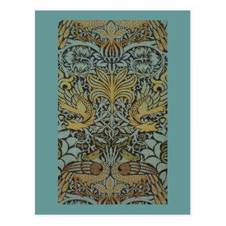Paon et dragon par William Morris Carte Postale