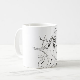 Paon sur une branche mug