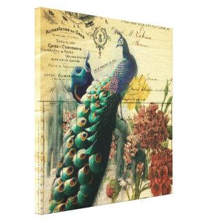 paon vintage moderne de pays français floral de toiles