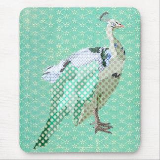 Paon vintage Mousepad Tapis De Souris
