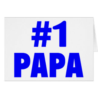 Papa #1 carte de vœux