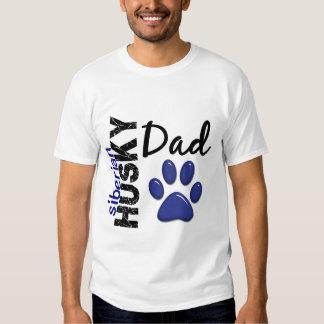 Papa 2 de chien de traîneau sibérien t-shirts