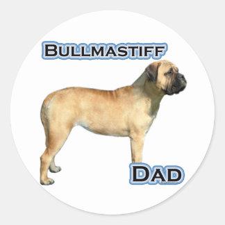 Papa 4 de Bullmastiff - autocollant