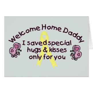 Papa à la maison bienvenu carte de vœux