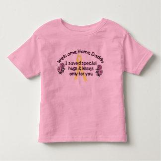 Papa à la maison bienvenu t-shirt pour les tous petits