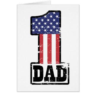 Papa américain du numéro un carte de vœux