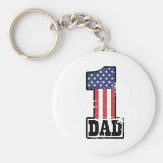 Papa américain du numéro un porte-clé rond
