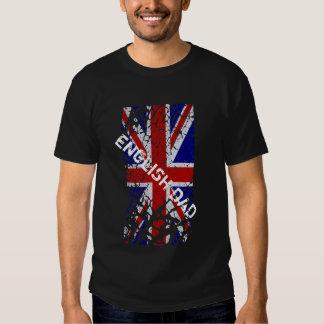 Papa anglais + Drapeau vintage d'Union Jack T-shirts