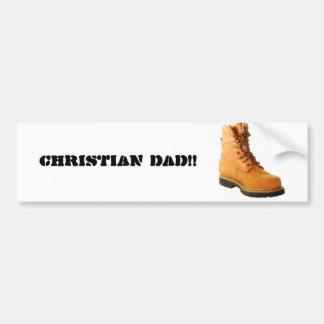 PAPA CHRÉTIEN ! ! … Adhésif pour pare-chocs religi Autocollant Pour Voiture