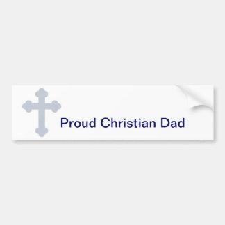 Papa chrétien autocollant de voiture
