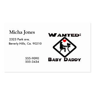 Papa de bébé voulu carte de visite standard