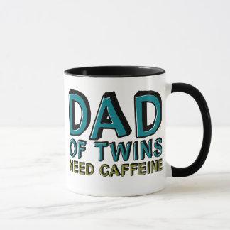 Papa de caféine du BESOIN de jumeaux Tasses