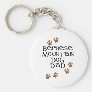 Papa de chien de montagne de Bernese Porte-clé Rond
