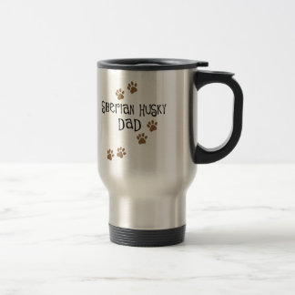 Papa de chien de traîneau sibérien mug de voyage