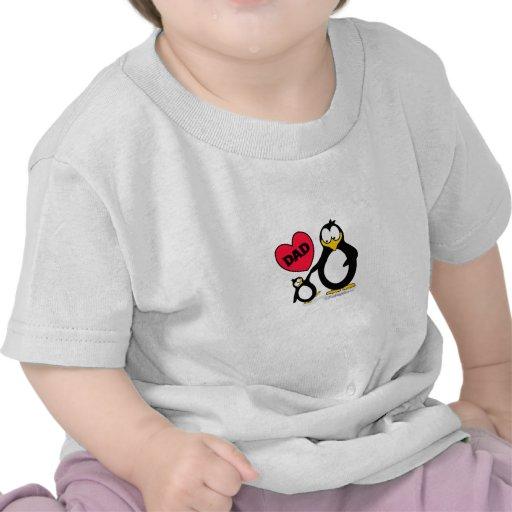 Papa de coeur de pingouin t-shirt