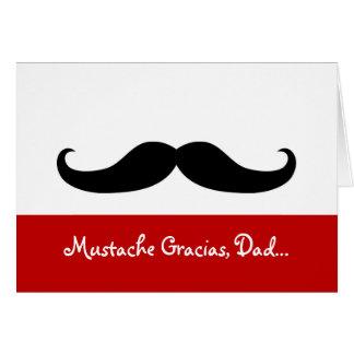 Papa de Gracias de moustache, carte de fête des