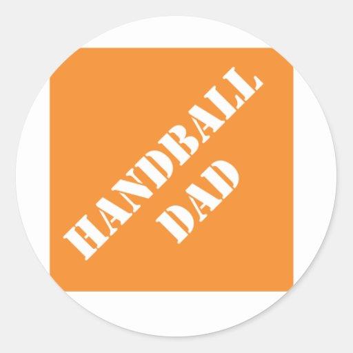 Papa de handball de Dadisms Adhésifs Ronds