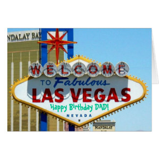 PAPA de joyeux anniversaire de Las Vegas Carte