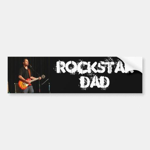 Papa de Rockstar Adhésif Pour Voiture