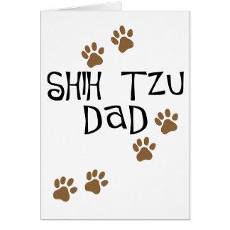 Papa de Shih Tzu Carte De Vœux