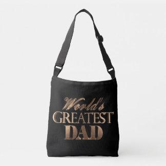 Papa du monde élégant de typographie d'or noir le sac