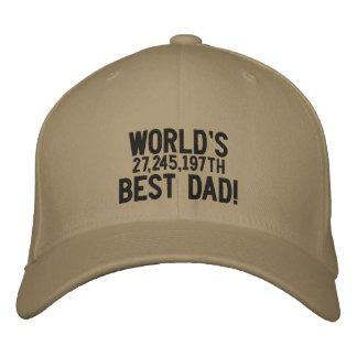 Papa du monde le 27,245,197th meilleur casquette brodée