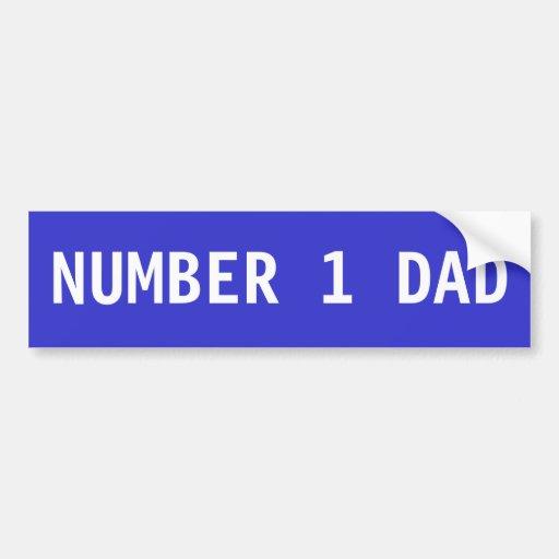 Papa du numéro 1 autocollants pour voiture
