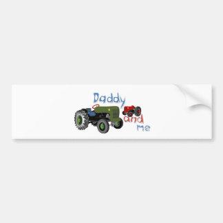 Papa et moi tracteurs autocollant de voiture