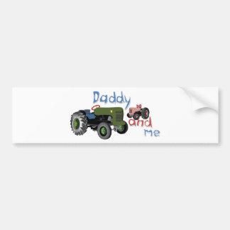 Papa et moi tracteurs de fille autocollant de voiture