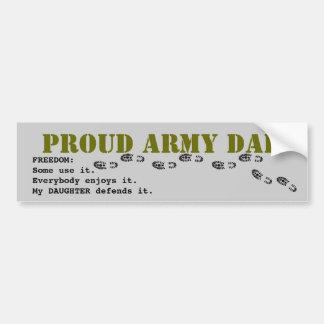 PAPA fier d'armée Autocollant Pour Voiture