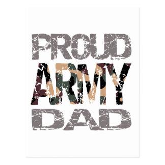 Papa fier d'armée cartes postales