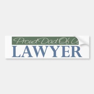 Papa fier d'un avocat autocollant pour voiture