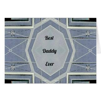 """Papa gris moderne de hanche """"meilleur jamais """" carte de vœux"""
