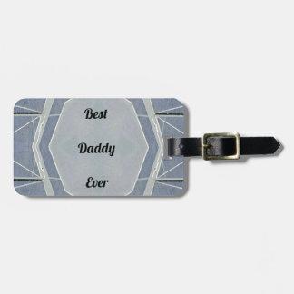 """Papa gris moderne de hanche """"meilleur jamais """" étiquettes bagages"""