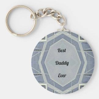 """Papa gris moderne de hanche """"meilleur jamais """" porte-clé rond"""