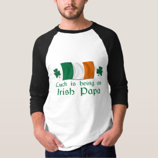 Papa irlandais chanceux t-shirt