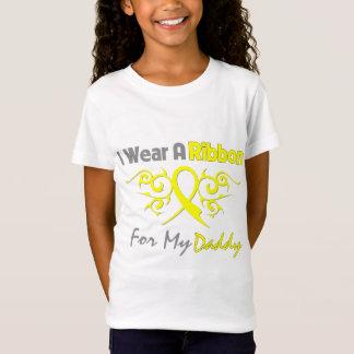 Papa - je porte un appui jaune de militaires de T-Shirt