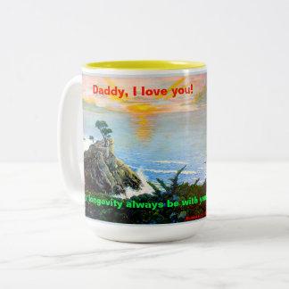 Papa, je t'aime ! Une tasse avec une chanson de