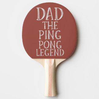 Papa la palette de rouge de légende de ping-pong raquette de ping pong