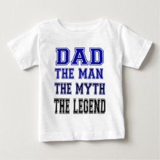 papa, l'homme, le mythe, la légende t-shirt pour bébé