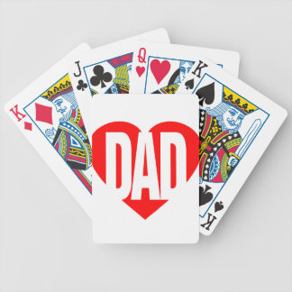Papa par le lobby de poésie cartes bicycle poker