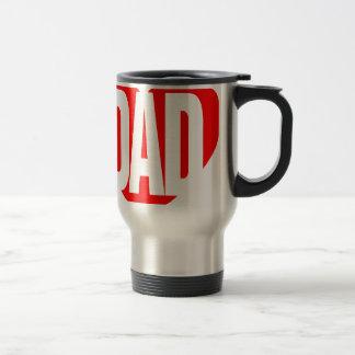 Papa par le lobby de poésie mug de voyage en acier inoxydable