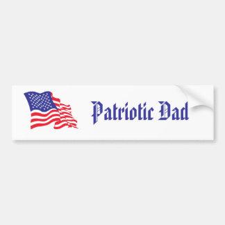Papa patriote adhésif pour voiture