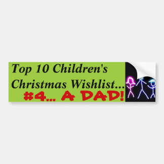 Papa pour Noël Autocollant Pour Voiture