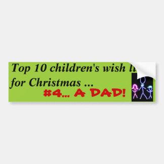 Papa pour Noël Autocollant De Voiture