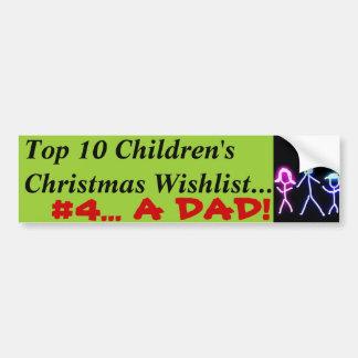 Papa pour Noël Autocollants Pour Voiture