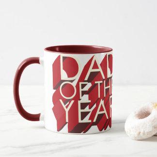 papa rouge de l'ombre 3D de l'année Mugs